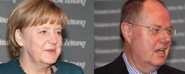 Führungstreffen Wirtschaft Süddeutsche Zeitung mit Angela Merkel und Peer Steinbrück