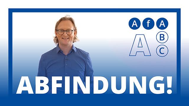AfA ABC: Abfindung