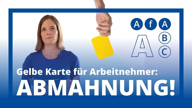 AfA ABC: A wie Abmahnung