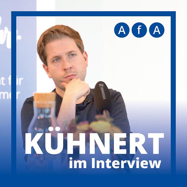 Kevin Kühnert (SPD) bei AfA in Berlin
