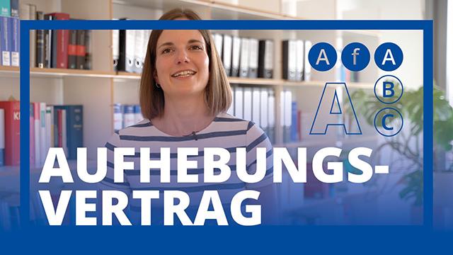 AfA ABC: A wie Aufhebungsvertrag